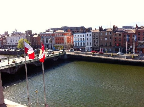 The Clarence: View over River Liffey, 3rd floor room.