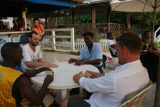 White Sands Negril: Local game of dominoes in the afternoons!