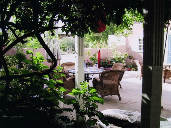 Corrales, NM: Patio View from the Wisteria Room