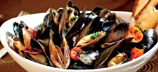 Playa Grande, Costa Rica: Mussels in White Wine Garlic Sauce