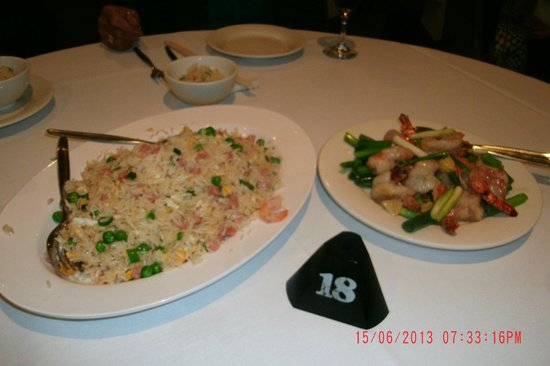 Gold Coast, Australia: Fried Rice and the Prawn dish