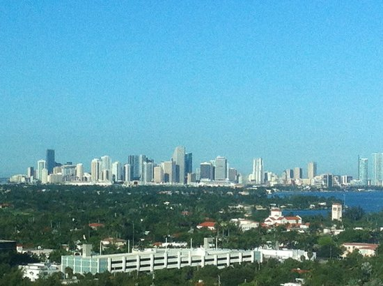 Eden Roc, a Renaissance Beach Resort & Spa: Miami viewed from elevator lobby