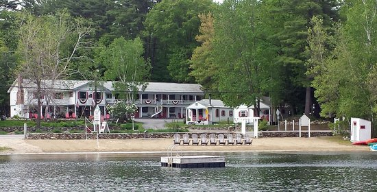 Holderness, NH: Cottage Place from Evans Cove