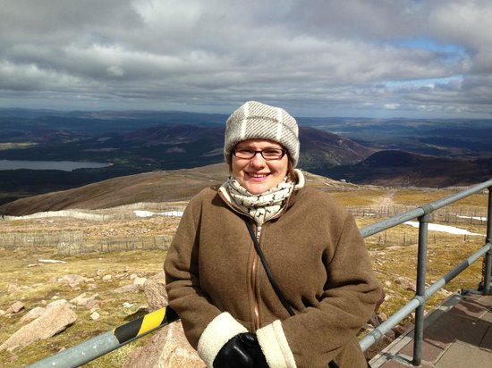 Aviemore, UK: Top of Cairngorm Mountain.........almost