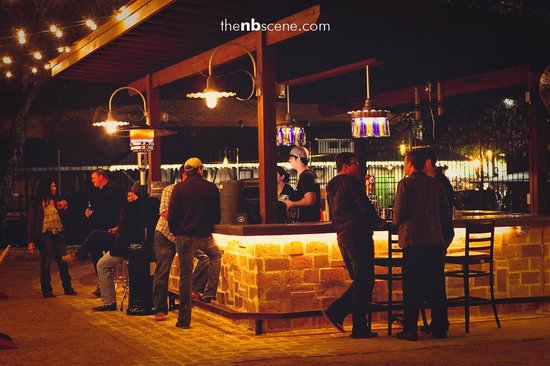 Backyard Bar Waco : Outdoor bar and stage  Picture of The Pour Haus, New Braunfels