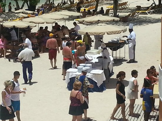Iberostar Rose Hall Beach Hotel: Paella for lunch on the beach