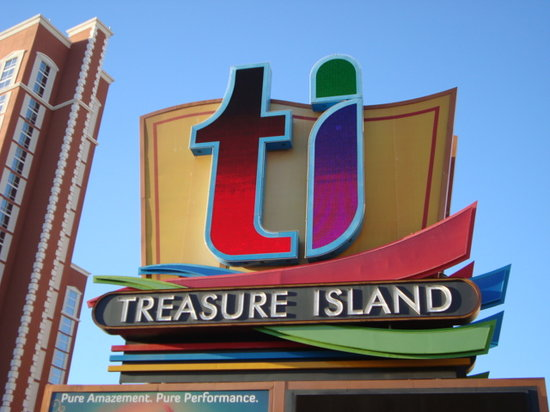 Treasure Island - TI Hotel & Casino: TI sign