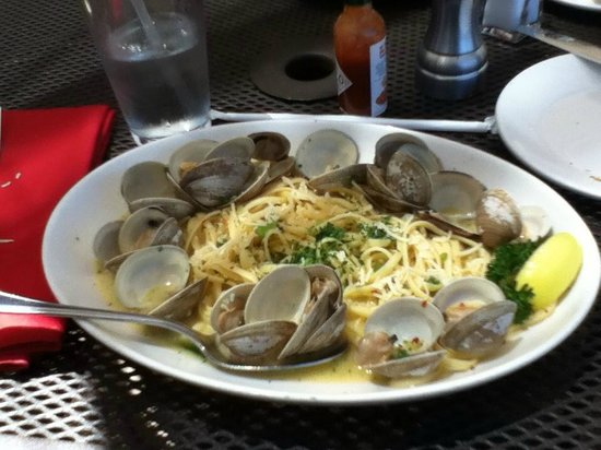 San Mateo, CA: Delicious Linguine with Clams. Ask for extra sourdough to sop up broth!