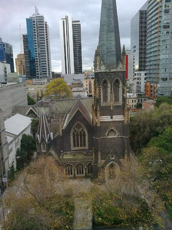 Grand Chancellor Melbourne: Wesley Church across the road