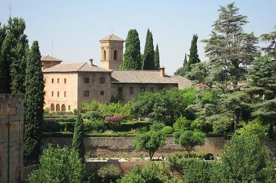Parador de Granada: The Parador view from Generalife
