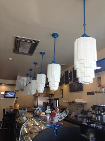 Clarks Summit, PA: super cool Art Deco lights