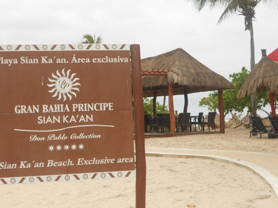 Luxury Bahia Principe Sian Kaan Don Pablo Collection: Off trolley right here; just steps to bar and beach area.
