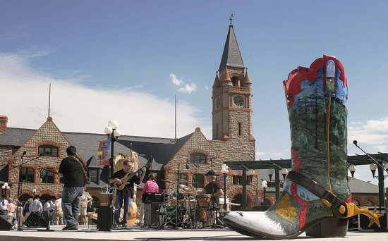Cheyenne, WY: Concerts, festivals and farmers markets fill the Depot Plaza, making the downtown buzz with fun.