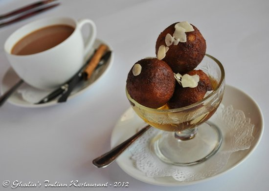 Wollongong, Australia: Gulab Jamun - A delicious Indian version of sweet donuts soaked in a sweet aromatic sugar syrup