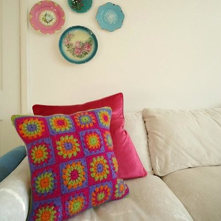 Herdy Cushion Knitting Pattern : herdy wool & felted cushion - Picture of The Herdy Shop, Grasmere - TripA...