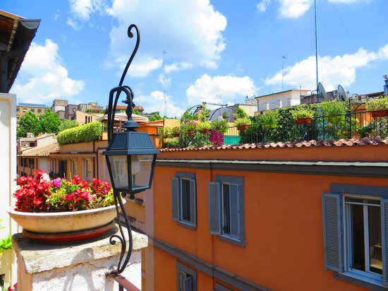 Leonardi Sistina Hotel: View from rooftop terrace