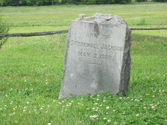 Headstone of jackson s arm picture of grave of stonewall jackson