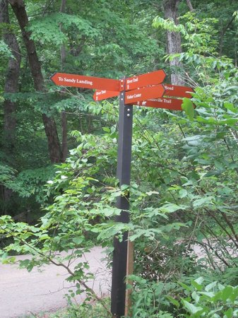 Great Falls Park: There are markers at the intersections but it's good to have the map.