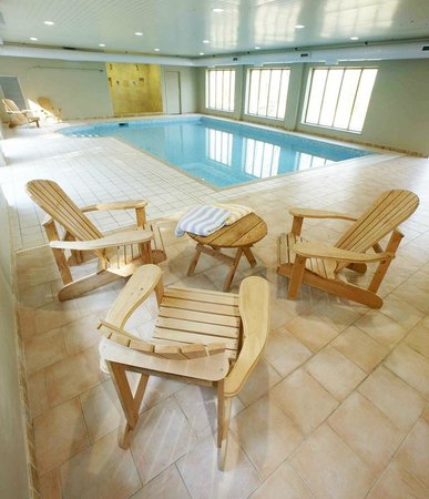 Indoor swimming pool and relaxation area - Picture of Gitcombe ...