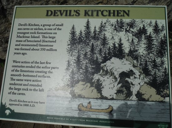 Devil S Kitchen Plaque Picture Of Mackinac Island State