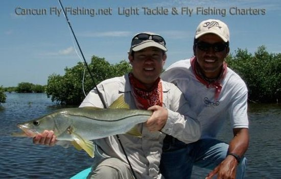 Snook Fishing Cancun Isla Blanca Picture Of Cancun Fly