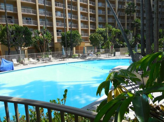 poolside at the crowne plaza picture of crowne plaza. Black Bedroom Furniture Sets. Home Design Ideas