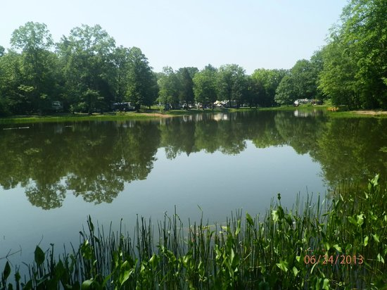 Fishing lake picture of colonial woods campground upper for Fishing lakes in pa