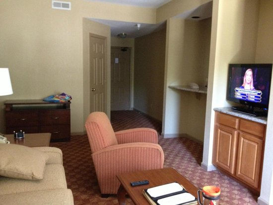 Another Angle Of Living Room In 2 Bedroom Suite Picture Of Wyndham Nashville Nashville