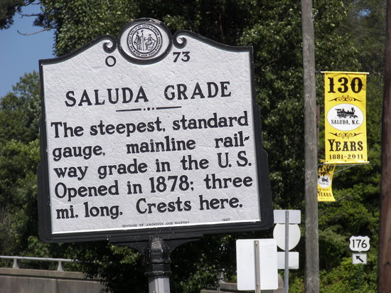 Saluda is at the top of the famous Saluda Grade.