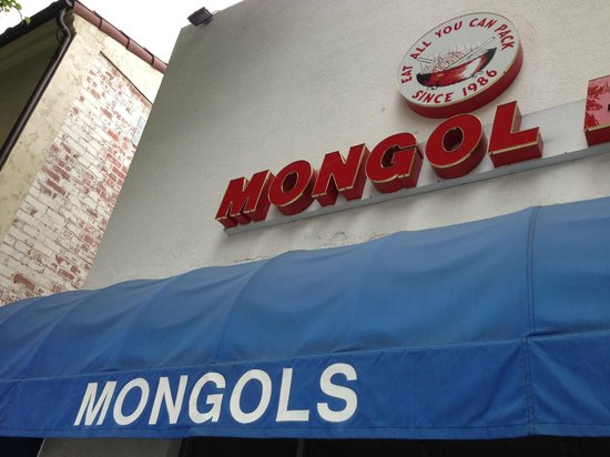 """mogolos bbq Mongols bbq mongols bbq was an oriental stir-fry """"buffet bar"""" located in california customers could choose combinations of food to be cooked as they watch the food being prepared show more."""