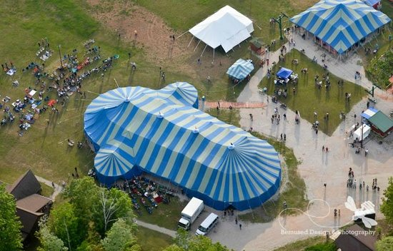 Bayfield, WI: We are the only all-canvas tent in operation in the US.