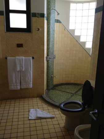 Arenas del Mar Beachfront and Rainforest Resort, Manuel Antonio, Costa Rica: Larger bathroom's rain shower