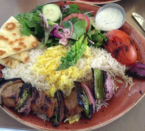 Beef Kabobs Plate Luna Grill Beef Kabob Plate