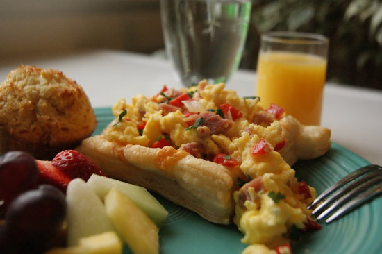 Denver Scramble on Puff Pastry - Picture of Farmers Guest House ...