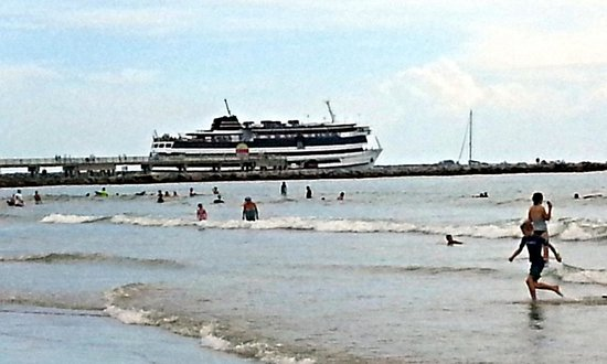 It is so exciting to watch the cruiseship passing jetty for Cape canaveral fishing report