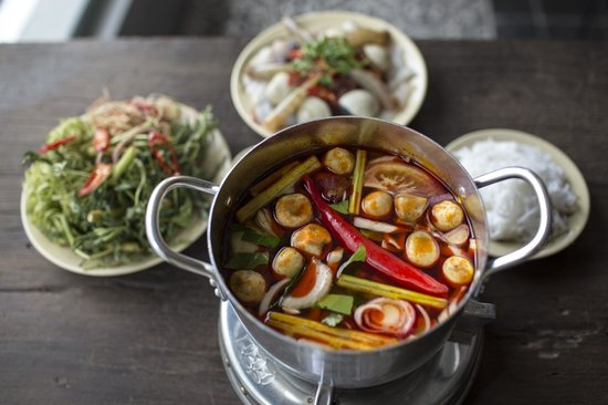 Spicy hot pot and sea food picture of quan bui - Authentic vietnamese cuisine ...