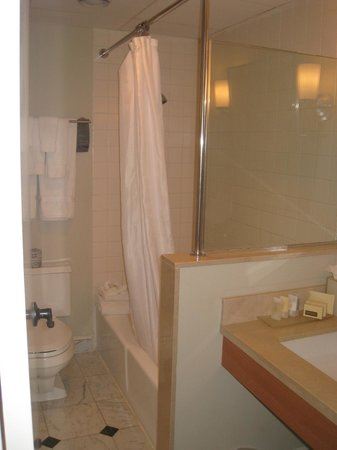 Super small bathroom picture of hotel galvez spa a for Super small bathroom