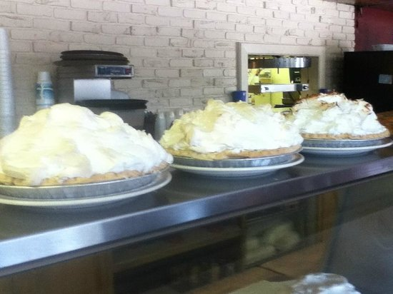 Oberlin, KS: Meringue Pies -- special of the day!