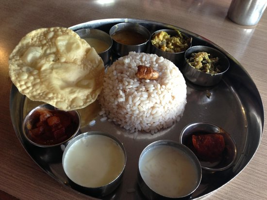 The menu picture of thali kottayam tripadvisor for Ajanta cuisine of india oklahoma city