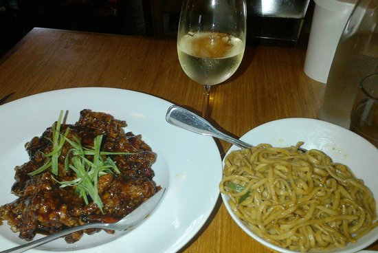 Tangerine Beef & Garlic Noodles - Picture of Terracotta Red Bistro ...