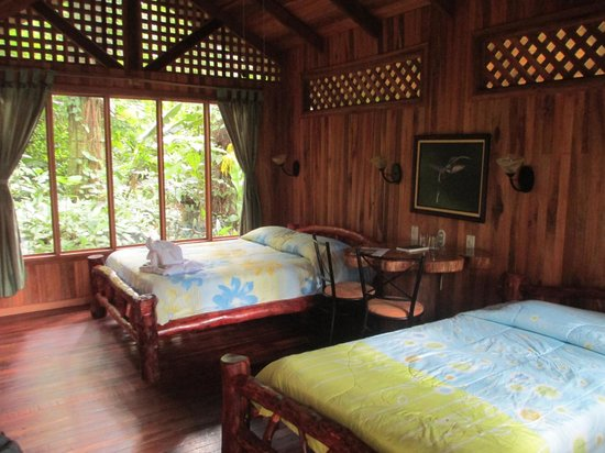 Arenal Oasis Eco Lodge & Wildlife Refuge: The interior of my casita included 1 queen and 1 single bed.