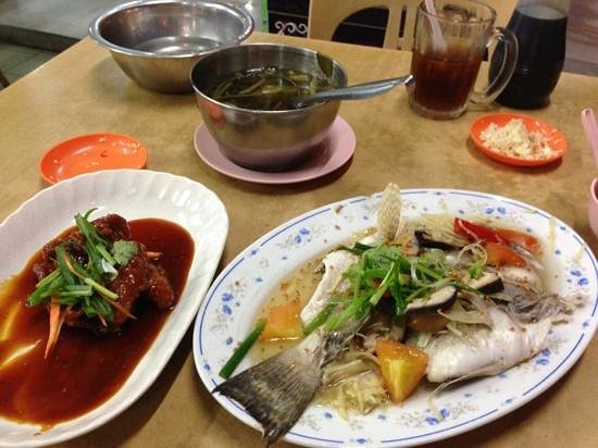 Steam From Soup ~ Steam fish boneless pork and soup picture of restoran