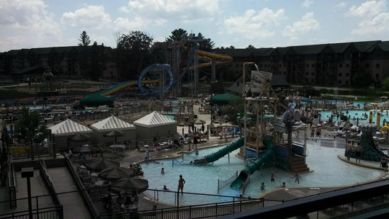 looking at lost world water park from our balcony. Black Bedroom Furniture Sets. Home Design Ideas