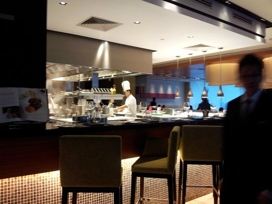 Open Kitchen Concept Restaurant Picture Of Osia Sentosa Island Tripadvisor