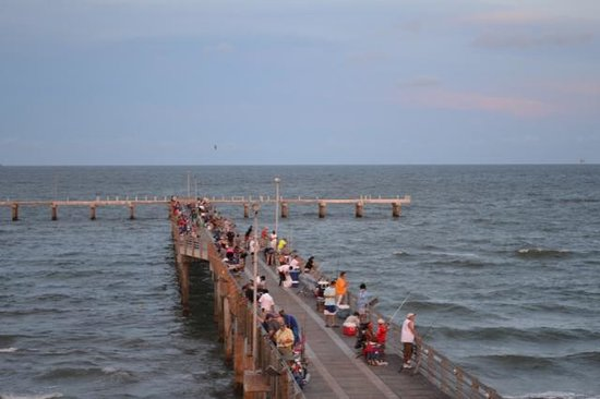 Fishing pier picture of jimmy 39 s on the pier galveston for Galveston jetty fishing report