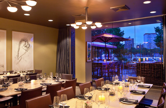 Artbar 39 s terrace bar at dusk picture of royal sonesta - Private dining room boston ...