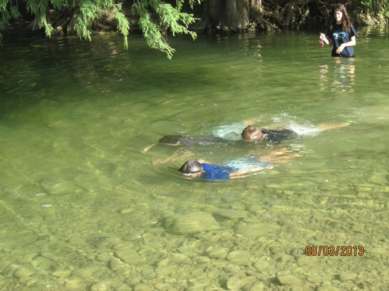 Nice clear water bring goggles so can see fish picture for Can fish see water