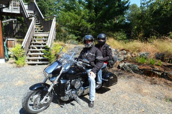 Stone Wood Bed and Breakfast: Stone Wood B & B motorcycle trip - geared up