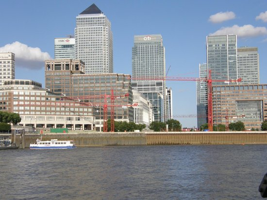 canary wharf from ferry picture of hilton london. Black Bedroom Furniture Sets. Home Design Ideas