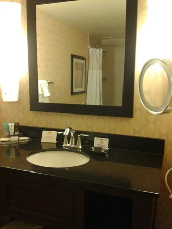 Nice Touches In Bathroom Included The Movable Makeup Mirror Picture Of Crowne Plaza St Louis